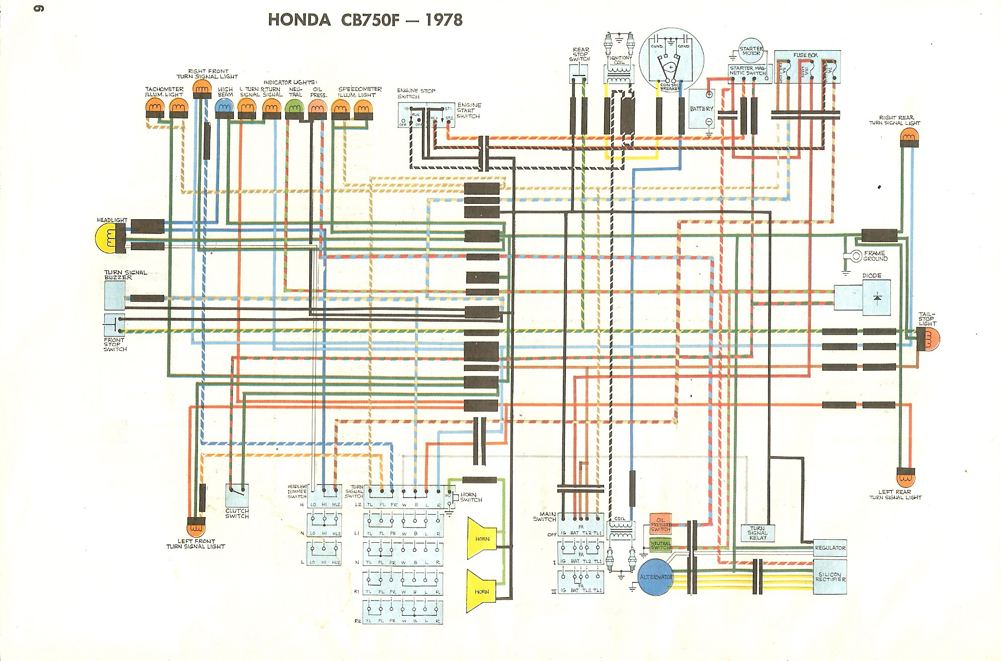 Cb750 Wiring Diagram Page 3 And Schematics Honda Ca200 Cb750f Rh Manuals Sohc4 Net 1975 1980
