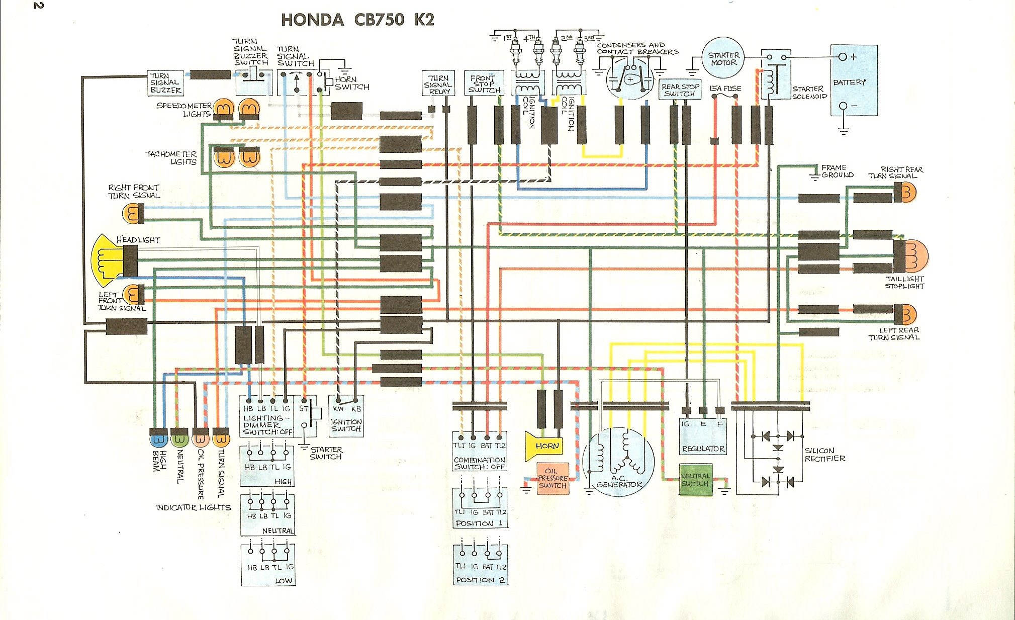 1970 Honda Cb 750 Wiring Diagram Starting Know About 1975 Dodge Ignition Cb750k Rh Manuals Sohc4 Net