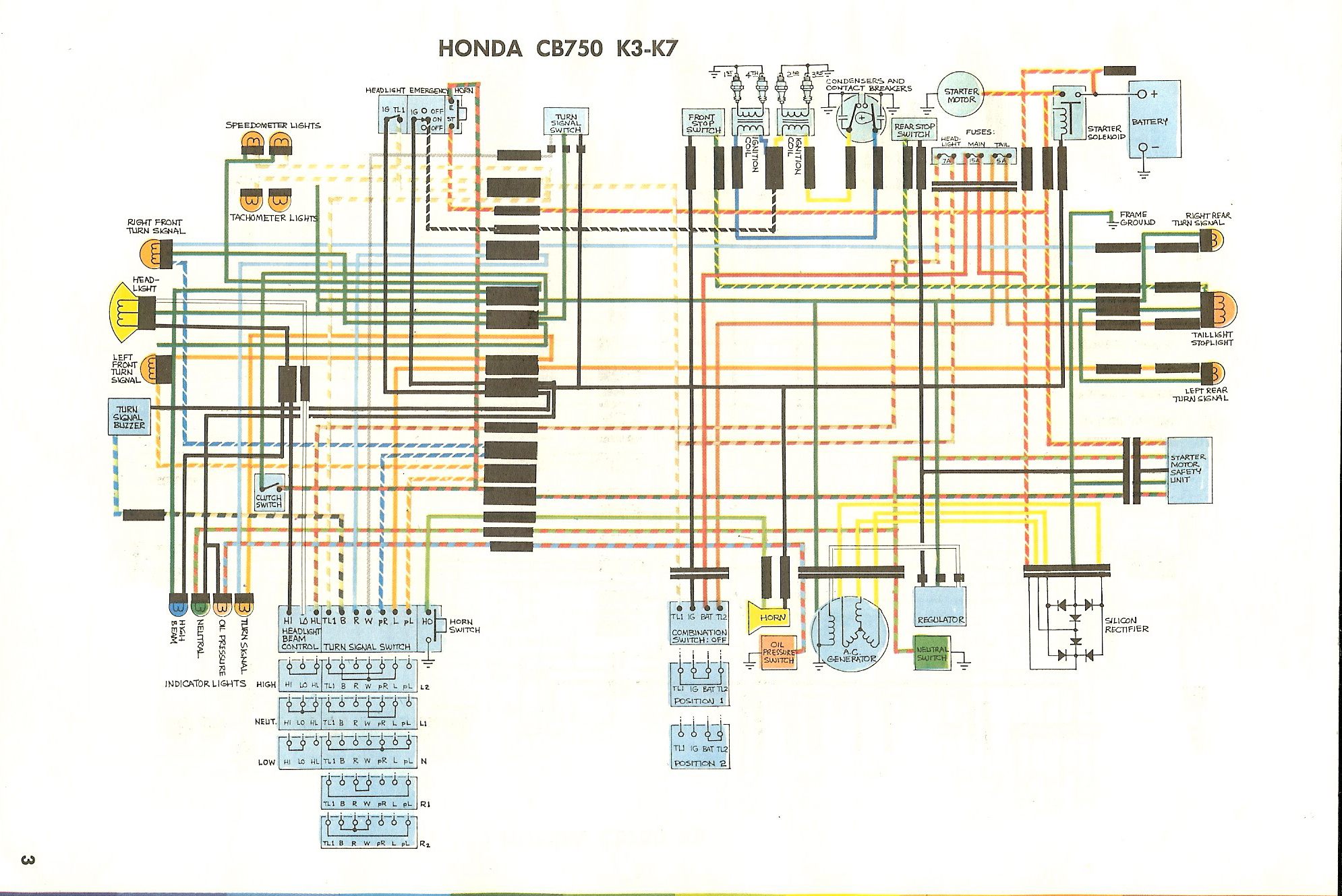 WD750K3_K7 cb750k 1975 cb550 wiring diagram at edmiracle.co